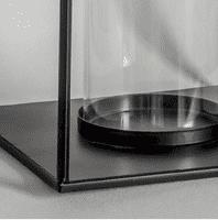 Black Metal Lantern - Large   Home Accessories